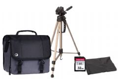 Canon Camcorder Accessory Kit - Case, 32GB SD, Full Length Tripod, Lens Cloth